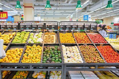 SHENZHEN, CHINA - CIRCA APRIL, 2019: interior shot of Walmart store in Shenzhen, China. Editorial