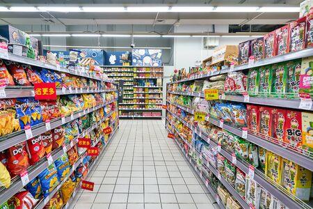SHENZHEN, CHINA - CIRCA APRIL, 2019: goods on display at Carrefour Le Marche supermarket in Shenzhen. Sajtókép