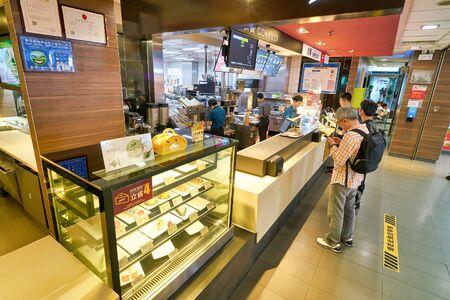 SHENZHEN, CHINA - CIRCA APRIL, 2019: sales area at McDonald's restaurant in Shenzhen, China.