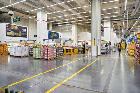 SHENZHEN, CHINA - APRIL 22, 2019: interior shot of Sam's Club store in Shenzhen. Sam's Club is an American chain of membership-only retail warehouse clubs owned and operated by Walmart Inc. Editorial