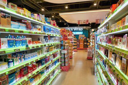 HONG KONG, CHINA - CIRCA JANUARY, 2019: interior shot of a store in Hong Kong.