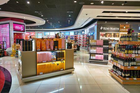 DUBAI, UAE - CIRCA JANUARY 2019: interior shot of Dubai International Airport. Sajtókép
