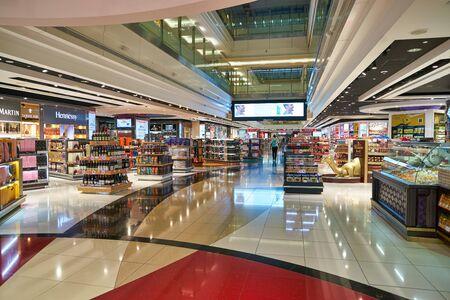 DUBAI, UAE - CIRCA JANUARY 2019: interior shot of Dubai International Airport.