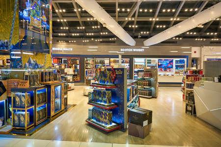 BANGKOK, THAILAND - CIRCA JANUARY, 2020: duty-free at Suvarnabhumi Airport. Suvarnabhumi Airport is one of two international airports serving Bangkok, Thailand. Sajtókép