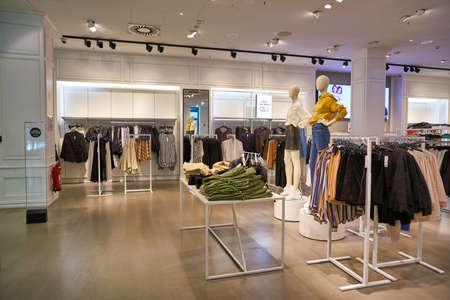 BERLIN, GERMANY - CIRCA SEPTEMBER, 2019: interior shot of Gina Tricot store in Berlin.