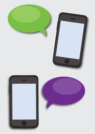 phone conversation: Conversation gadget mobile. Phone conversation on mobile device