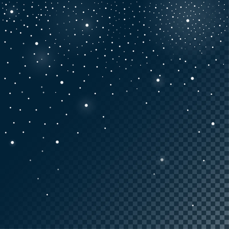 snowfalls: Vector illustration. Snow with different size and transparency of the snowflakes Illustration