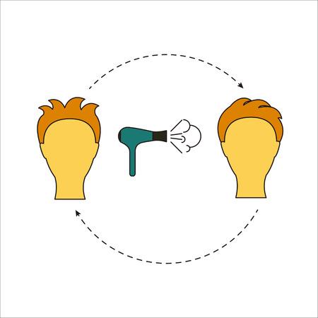 Beauty salon tools Vector illustration