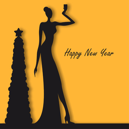 night dress: New year party people