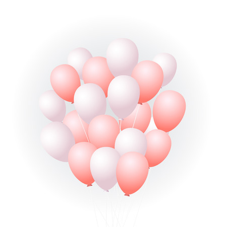 Pink balloons Vector illustration Illustration