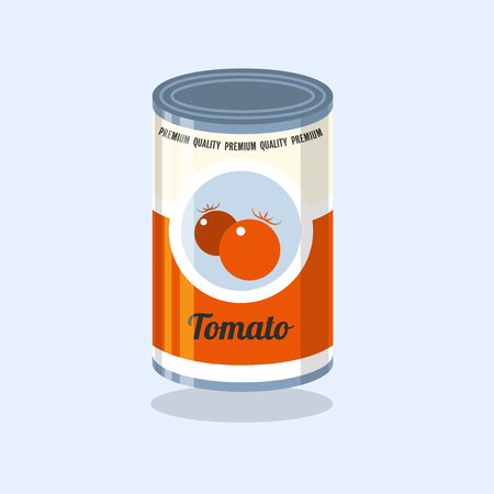 tin: Tin Vector illustration Illustration