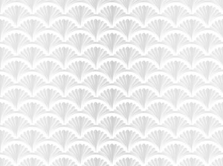 Monochrome seamless pattern with shells on white background