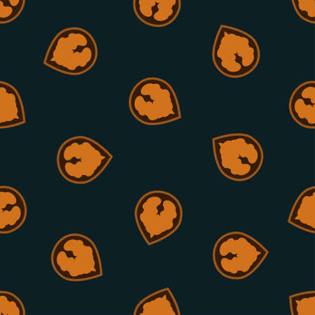 Nuts Vector illustration in thin line style