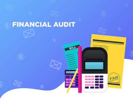 Audit Vector illustration for posters and banners with copy space Иллюстрация