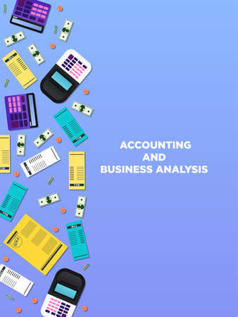 Accounting Vector illustration with copy space in flat style