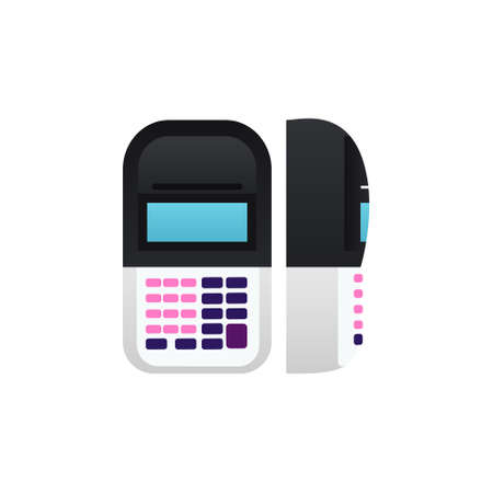 POS terminal Isolated vector icon in flat design