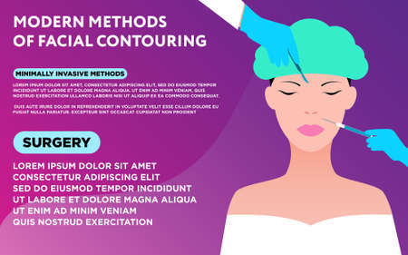 Facial contouring Medicine poster template with sample text