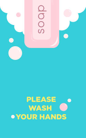Personal hygiene Vector poster template in flat design