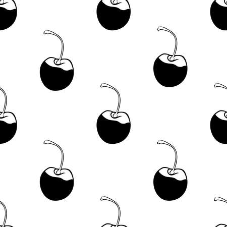 Cherry berry seamless pattern Vector illustration