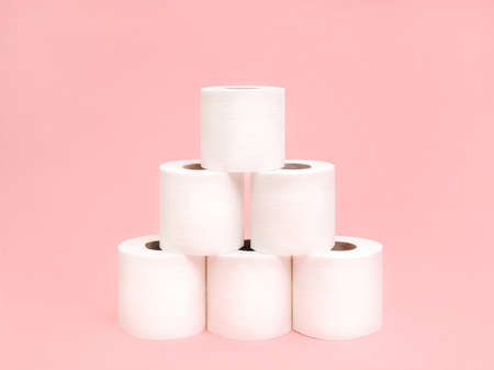 Toilet paper stack Photo in minimal style