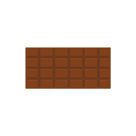 Vector illustration of full chocolate bar on white background