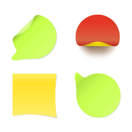 Stickers Vector isolated icons in realistic style