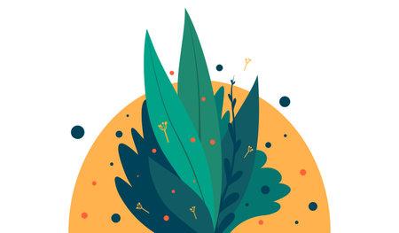 Growing bush Vector illustration in flat design