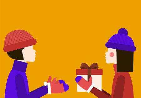 Gift Vector illustration in flat design Vettoriali