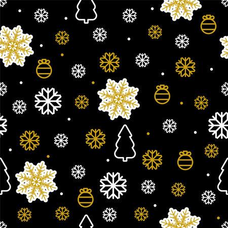Christmas vector seamless pattern New year symbols Vettoriali