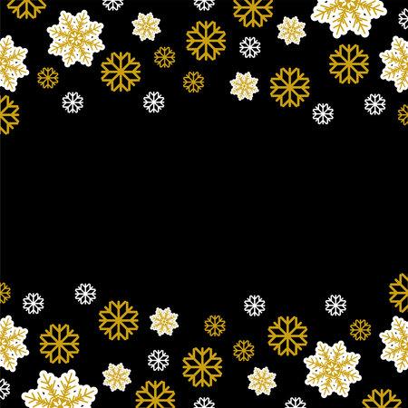 Snowflakes Vector illustration in flat design Vettoriali