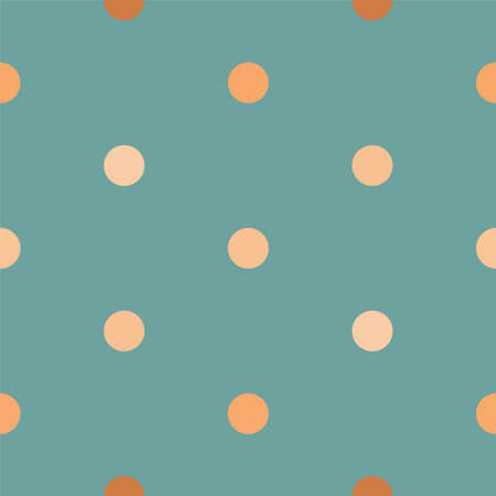 Vector illustration with cute gold confetti Seamless pattern with gradient confetti on turquoise background Vettoriali