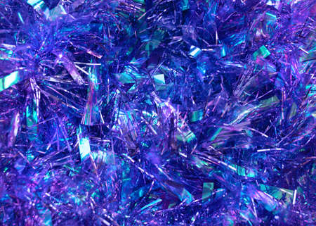 Tinsel garland Close up photo for posters and banners