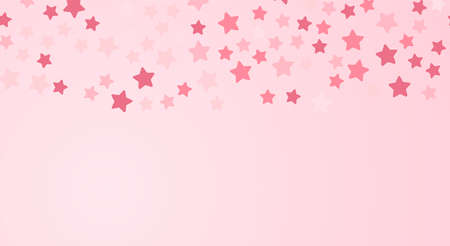 Stars confetti Vector illustration for posters and banners with copy space