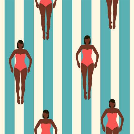 Bikini seamless pattern Vector illustration in flat design