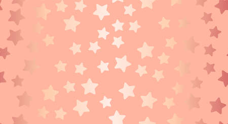 Seamless pattern with gold stars Vector illustration