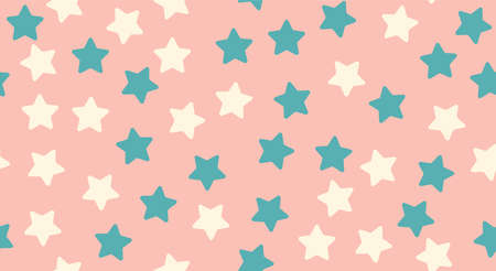 Cute seamless pattern with stars Vector illustration