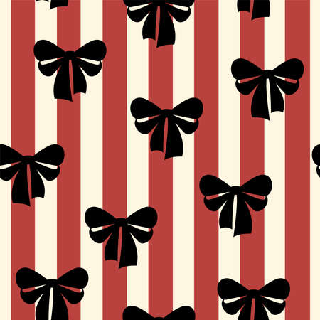 Bow-knot seamless pattern Vector illustration in flat design