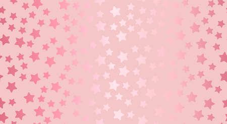 Rose gold stars seamless pattern Vector illustration
