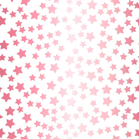 Seamless pattern with rose gold confetti Vector illustration