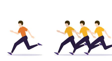 Sport competition Vector illustration in flat design Vettoriali