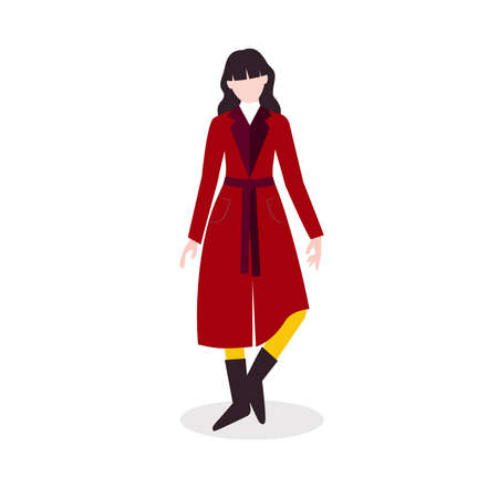 Autumn style. Vector icon in flat design