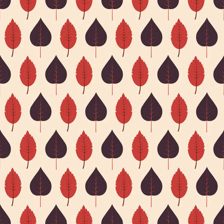 Autumn leaf seamless pattern. Vector illustration in flat design Vettoriali