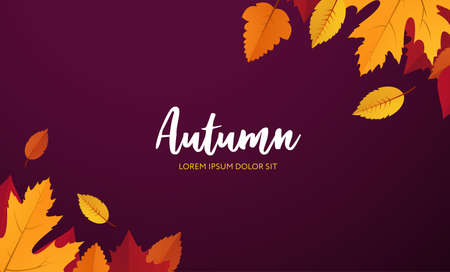 Autumn. Vector poster template with copy space Vettoriali