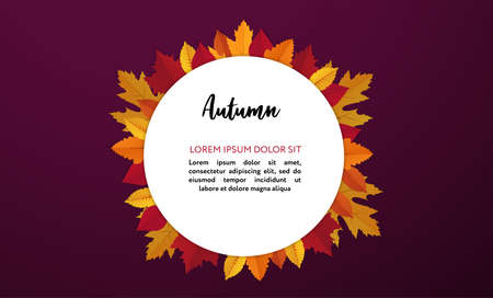 Fall season. Vector poster template with copy space.