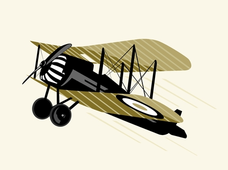aviations: old airplane Illustration