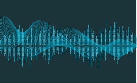 vettore d'onda di musica Vettoriali