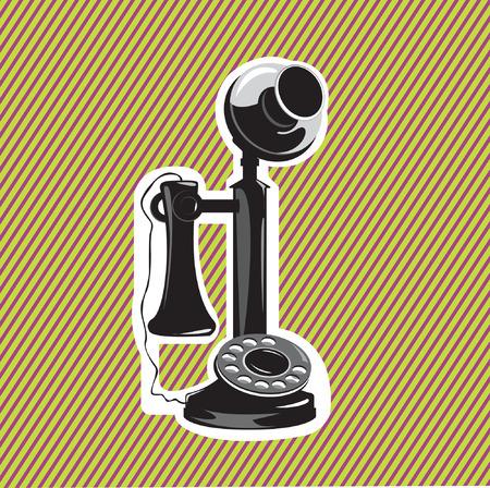 old phone- vector Vector
