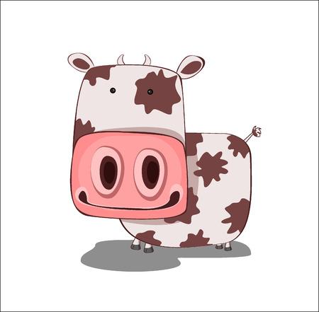 cow cartoon: cow - vector illustration Illustration
