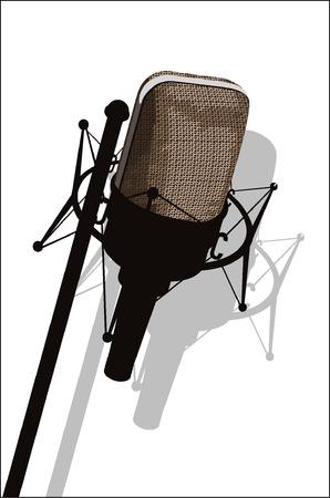 microphone- vector- brown