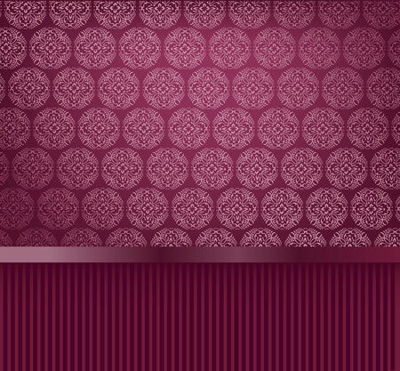 Glamour decorative wallpaper Stock Vector - 7337705